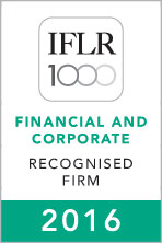 Tokushev and Partners is recognised in the IFLR1000